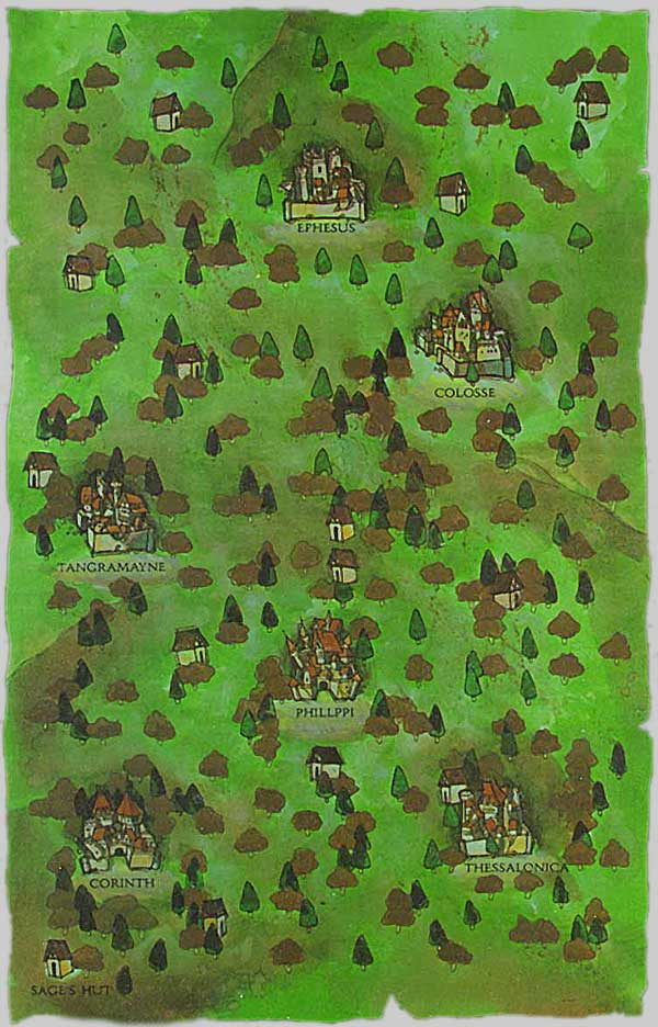 The Wilderness map for The Bard's Tale II: The Destiny Knight, by Don Carson
