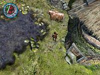 An early screenshot of inXile's new Bard's Tale game
